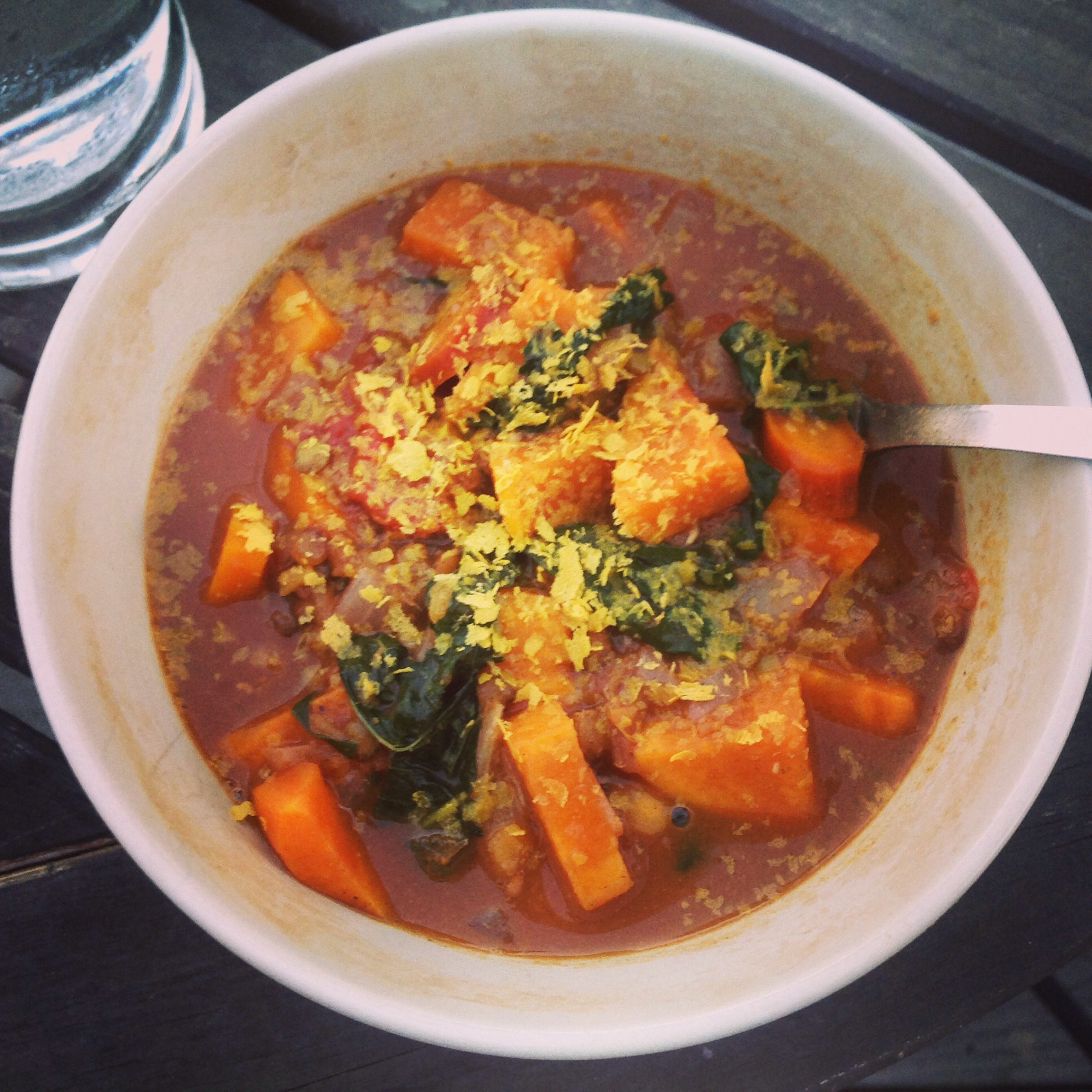 Moroccan-spiced Lentil and Sweet Potato Soup